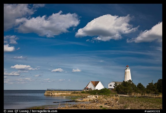 Lighthouse, Connecticut River estuary, Old Saybrook. Connecticut, USA (color)