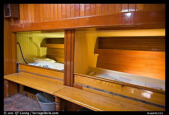 Picture Photo Sleeping Berth On Historic Ship Mystic