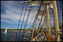 Aboard the Charles Morgan ship. Mystic, Connecticut, USA (color)