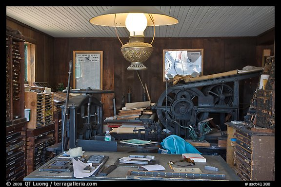 Print shop. Mystic, Connecticut, USA (color)
