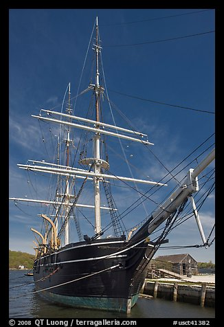 Charles W Morgan historic wooden whaleship. Mystic, Connecticut, USA (color)