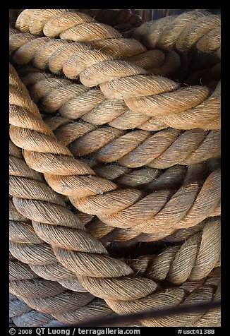 Rope close-up. Mystic, Connecticut, USA (color)