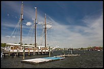 Mystic River. Mystic, Connecticut, USA (color)