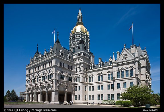 Connecticut State Capitol. Hartford, Connecticut, USA (color)