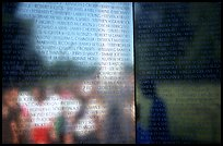 Vietnam Veterans Memorial with the names of the 58022 American casualties from the Vietnam War. Washington DC, USA (color)