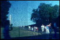 The Wall, Vietnam Veterans Memorial. Washington DC, USA (color)