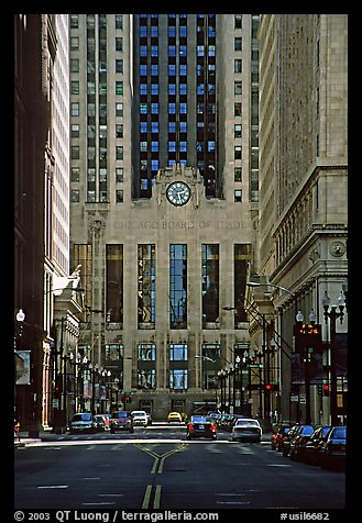 Chicago board of exchange. Chicago, Illinois, USA (color)