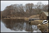 Winter reflections, Saugus River, Saugus Iron Works National Historic Site. Massachussets, USA (color)