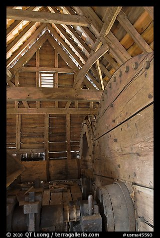 Forge interior, Saugus Iron Works National Historic Site. Massachussets, USA (color)