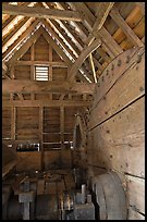 Forge interior, Saugus Iron Works National Historic Site. Massachussets, USA ( color)