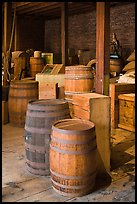 Interior of public stores warehouse, Salem Maritime National Historic Site. Salem, Massachussets, USA (color)