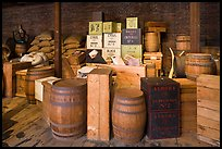 Chests and barrels, public stores, Salem Maritime National Historic Site. Salem, Massachussets, USA (color)