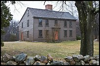 Ebenezer Fiske House in winter, Minute Man National Historical Park. Massachussets, USA ( color)