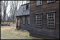 Hartwell Tavern in winter, Minute Man National Historical Park. Massachussets, USA ( color)