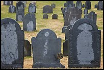 Headstones, Concord. Massachussets, USA (color)