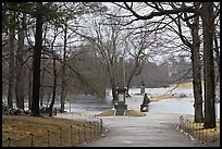 North Bridge, site of the Battle of Concord, Minute Man National Historical Park. Massachussets, USA (color)