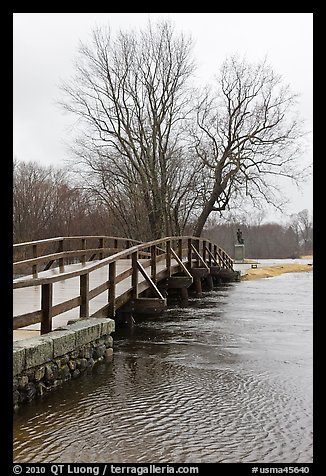 Old North Bridge, Minute Man National Historical Park. Massachussets, USA (color)