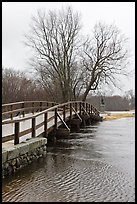 Old North Bridge, Minute Man National Historical Park. Massachussets, USA ( color)