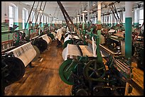 Textile Looms, Boott Cottom Mills Museum, Lowell National Historical Park. Massachussets, USA ( color)