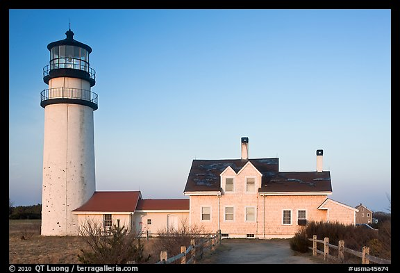 Cape Cod Light, early morning, Cape Cod National Seashore. Cape Cod, Massachussets, USA (color)