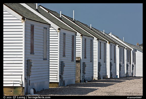 Row of cottages, Truro. Cape Cod, Massachussets, USA (color)