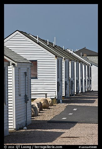 Beach Cottages, Truro. Cape Cod, Massachussets, USA (color)