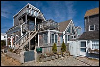 Beach and houses, Provincetown. Cape Cod, Massachussets, USA ( color)