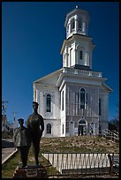 Former church reconverted into libary, Provincetown. Cape Cod, Massachussets, USA ( color)