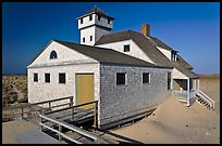 Historic life-saving station, Race Point Beach, Cape Cod National Seashore. Cape Cod, Massachussets, USA ( color)