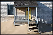 Porch and sands, Old Harbor life-saving station, Cape Cod National Seashore. Cape Cod, Massachussets, USA ( color)