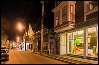 Commercial street by night, Provincetown. Cape Cod, Massachussets, USA ( color)