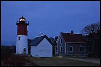 Nauset lighthouse at dawn, Cape Cod National Seashore. Cape Cod, Massachussets, USA ( color)