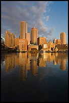 Boston financial district skyline. Boston, Massachussets, USA ( color)