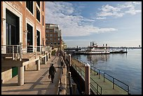 Rowes Wharf, early morning. Boston, Massachussets, USA (color)