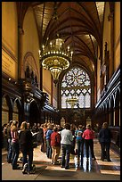Choir reharsal in Memorial Hall, Harvard University, Cambridge. Boston, Massachussets, USA (color)