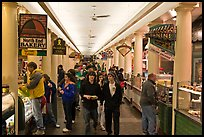 Food hall, Quincy Market Colonnade. Boston, Massachussets, USA ( color)