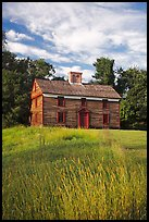 Historic house, Minute Man National Historical Park. Massachussets, USA ( color)