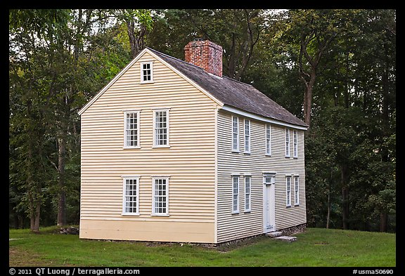 Job Brooks House, Minute Man National Historical Park. Massachussets, USA (color)