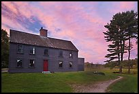 Meriam House, sunset, Minute Man National Historical Park. Massachussets, USA (color)