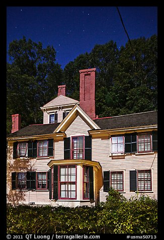Wayside, home to Louisa May Alcott, Nathaniel Hawthorne, and Margaret Sidney.. Massachussets, USA (color)