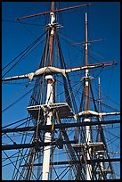 Masts of USS Constitution. Boston, Massachussets, USA ( color)