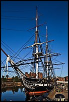 USS Constitution frigate. Boston, Massachussets, USA (color)