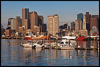 Bostron harbor and financial district. Boston, Massachussets, USA ( color)