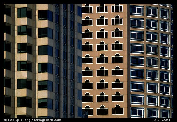 Detail of high rise buildings. Boston, Massachussets, USA (color)