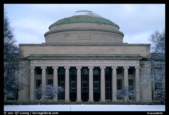 Main entrance of the Massachussetts Institute of Technology. Boston, Massachussets, USA (color)