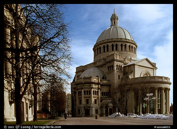 First Church of Christ, Scientist (mother building). Boston, Massachussets, USA (color)