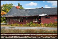 Abandonned railroad station, Greenville Junction. Maine, USA (color)