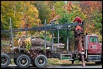 Tree pruning truck, Rockwood. Maine, USA ( color)