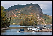 Mount Kineo seen across Moosehead Lake, Rockwood. Maine, USA ( color)