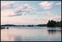 Moosehead Lake, sunset, Greenville. Maine, USA ( color)
